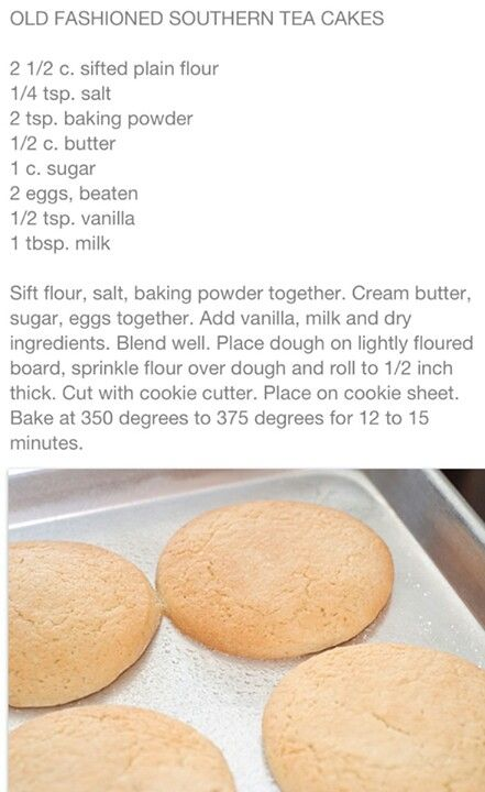 Recipes of tea cakes