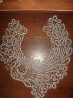 Collar - Vologda bobbin lace technique