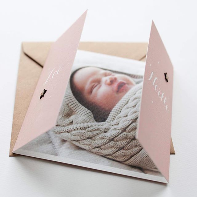 Voor de ouders van Zoë mochten we dit speciale kaartje maken. De foto maakt dit geboortekaartje helemaal mooi af❤️