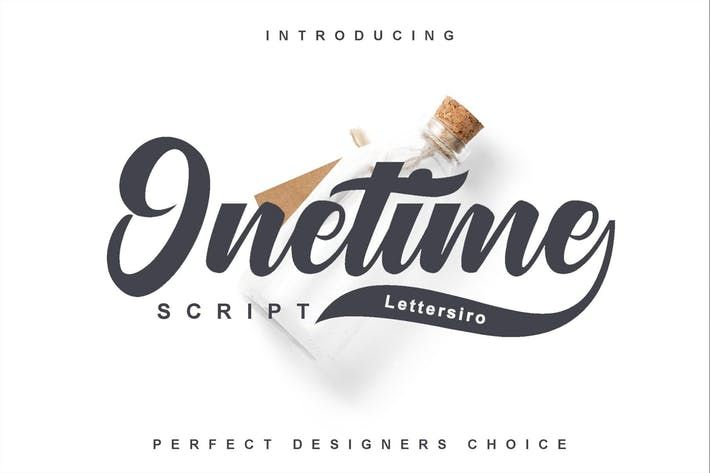 Onetime Script By Shirongampus On Envato Elements Free Fonts Handwriting Typeface Signature Fonts
