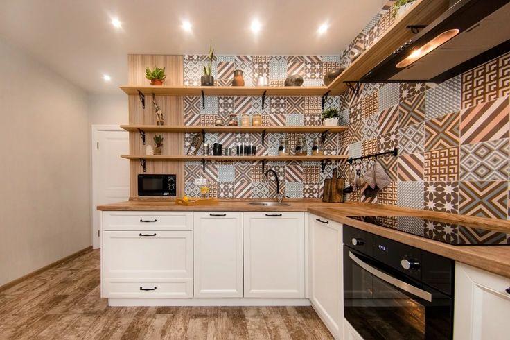 небольшая кухня без навесных шкафов фото — Яндекс: нашлось ...
