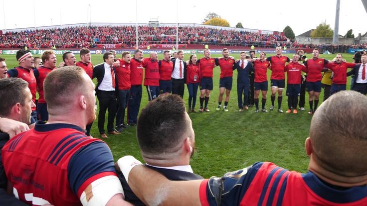 The munster rugby team sings a song to honour their recently deceased rugby coach