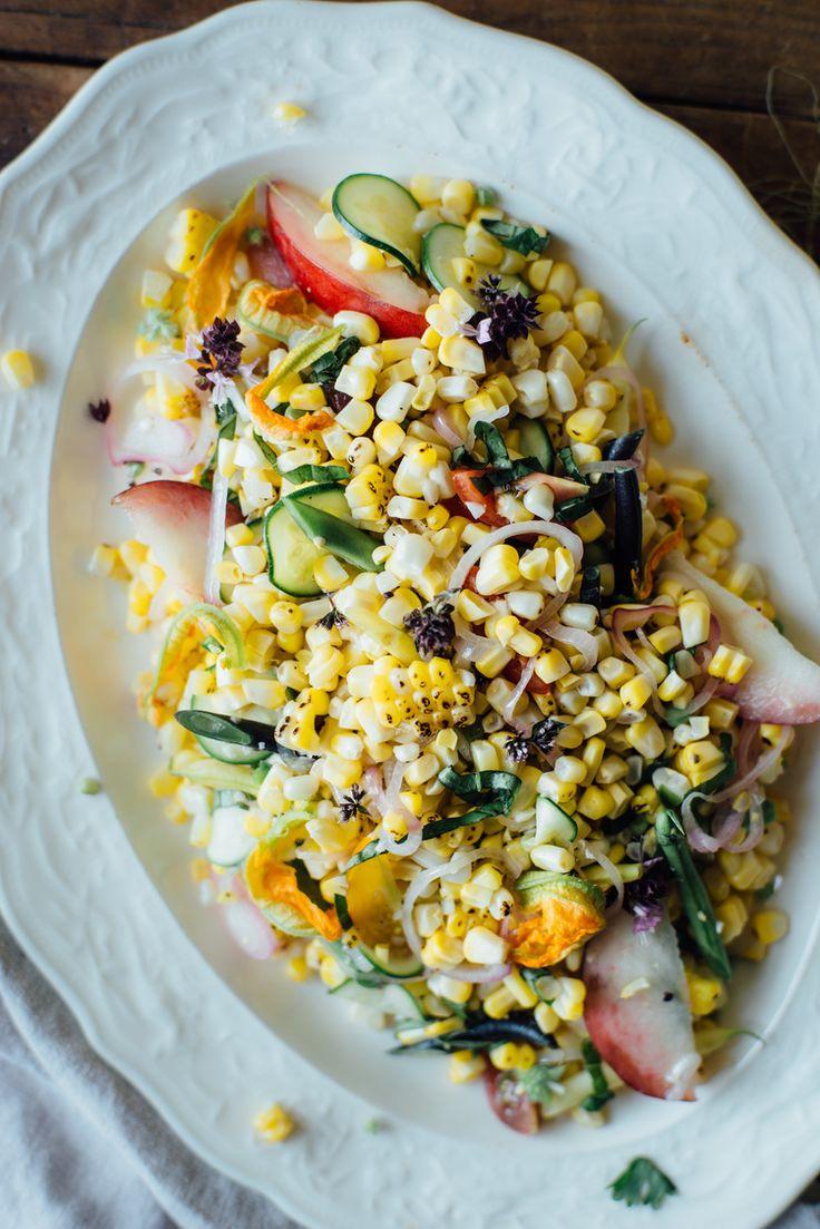... , Oatmeal, Corn Salad, Succotash Salad, Heirloom Beans, Pickled Corn