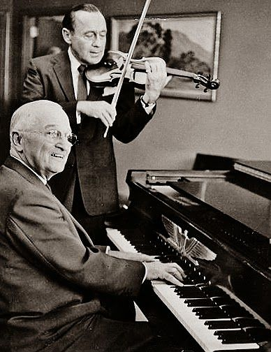 PRESIDENT HARRY S. TRUMAN  and Jack Benny.
