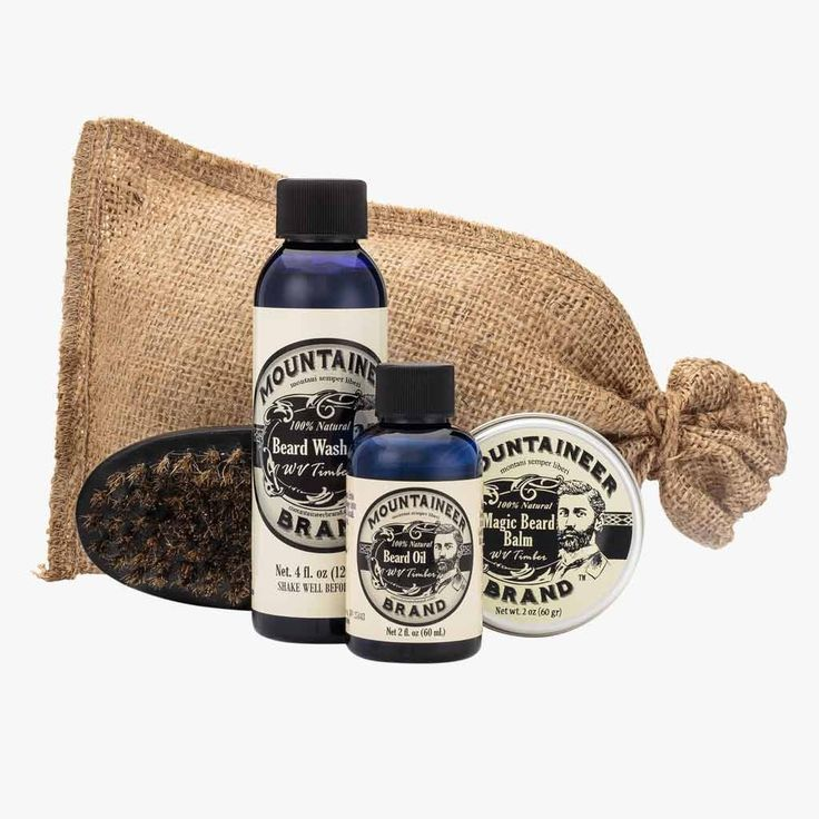 Product Image, Mountaineer Brand Complete Beard Care Kit, Timber Scent