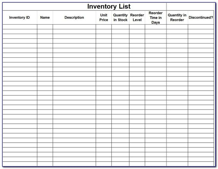 Inventory Control Forms in 2020 Spreadsheet template