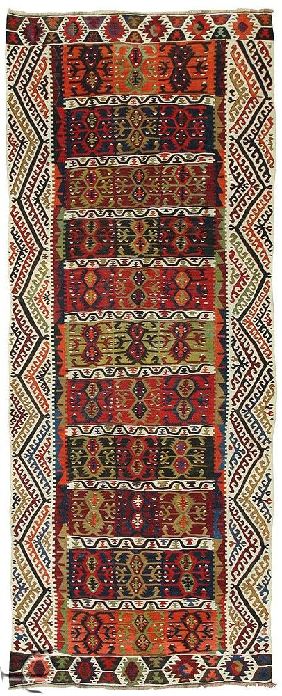 Antique Turkish Anatolian Kilim (Kelim).