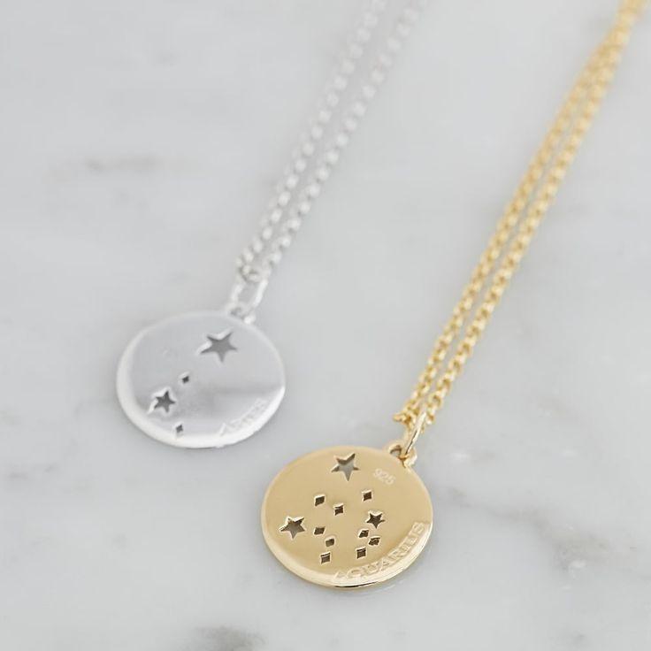 Sagittarius Star Sign Necklace Gold