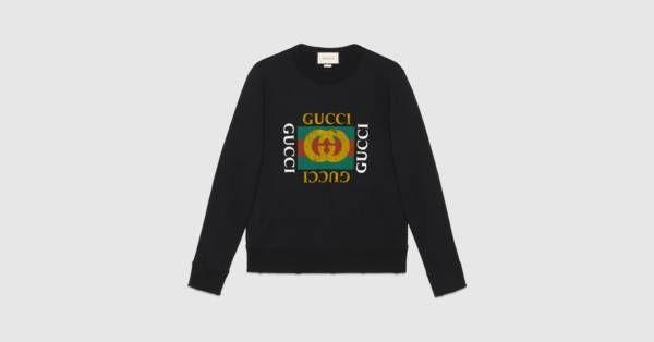 5512caabda2c Cotton sweatshirt with Gucci logo   johnny III xmas list 2017 Ho Ho ...