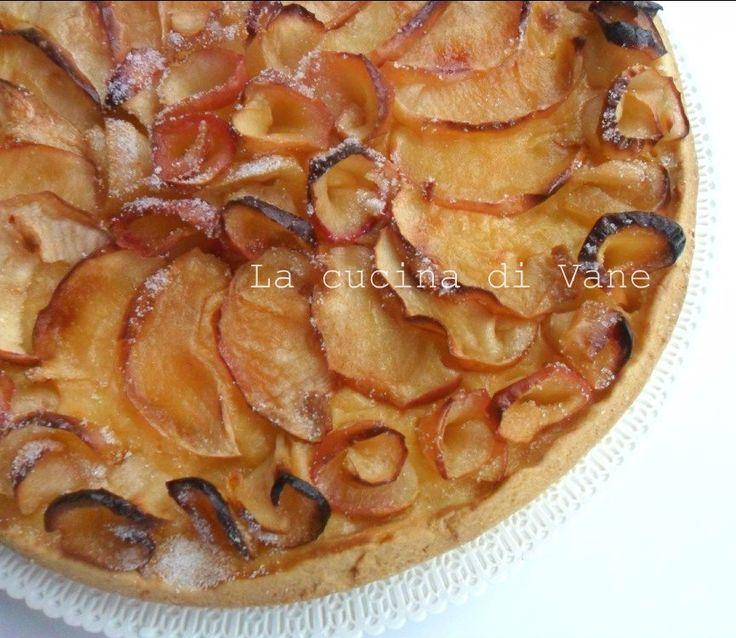 crostata di mele e crema ricetta dolce golosa facile da fare, ideale per merenda e prima colazione