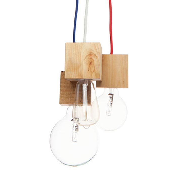 From our Living Room Collection > The Sisters Lamp > A 3-piece set handmade in Italy from reclaimed wood, colored textile cables, and a strip LED light - combining the organic and the technological for a striking effect. Playful and versatile, the lamp fits perfectly in any residential/commercial space. Contemporary and earth-conscious - what more could you ask for?   Available on our e-shop in collab w/ always cool @carapacedesign  #lamp #pendant #reclaimed #wood #eco #contemporary #playful