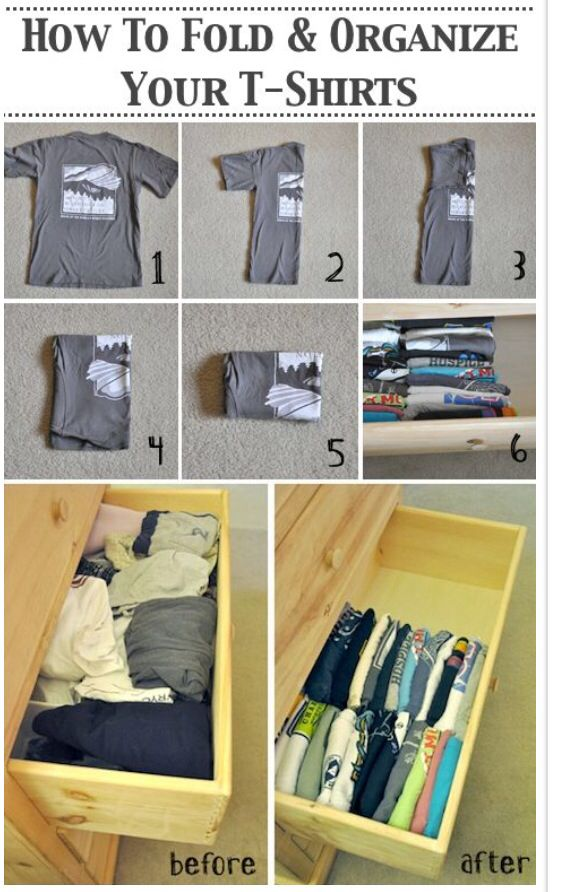 A better way to organize your clothes!!!