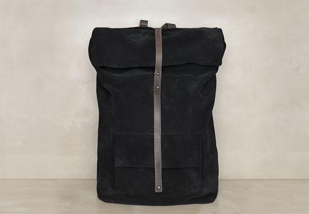 Schwarzer Rucksack // black backpack by Mum & Co via DaWanda.com