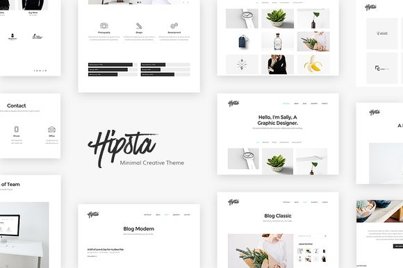 Hipsta - Minimal Creative Theme by Unbranded on @creativemarket
