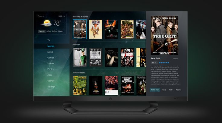 Clean TV UI / UX Design & TV Design