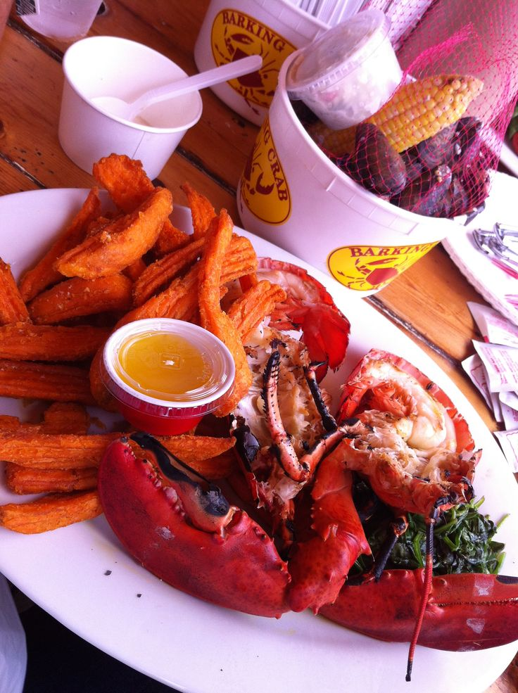 must eat the lobster feast at the Barking Crab in Boston from man vs. food #manvsfood #boston #barkingcrab