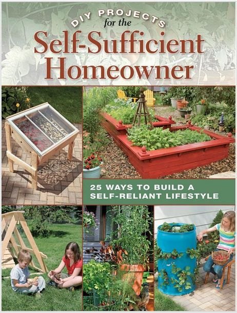 This book offers step-by-step projects to help you achieve a healthier, greener and more sustainable home. Topics include rain collection, solar panels, food storage, wind-energy systems and more.    DIY Projects for the Self-Sufficient Homeowner