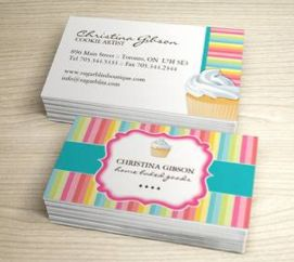 Fully customizable bakery business card created by Colourful Designs Inc. Copyright 2013-2014