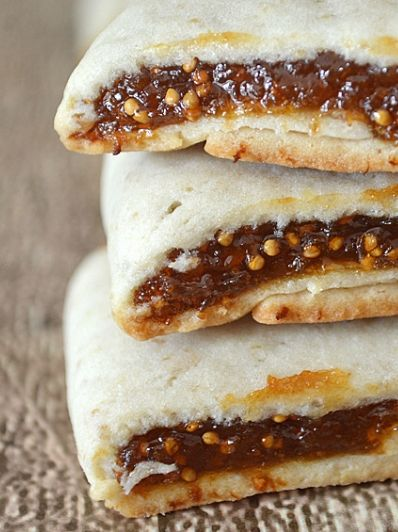Make your own Fig Newtons.  This recipe is vegan and includes orange juice, and orange zest along with dried figs.