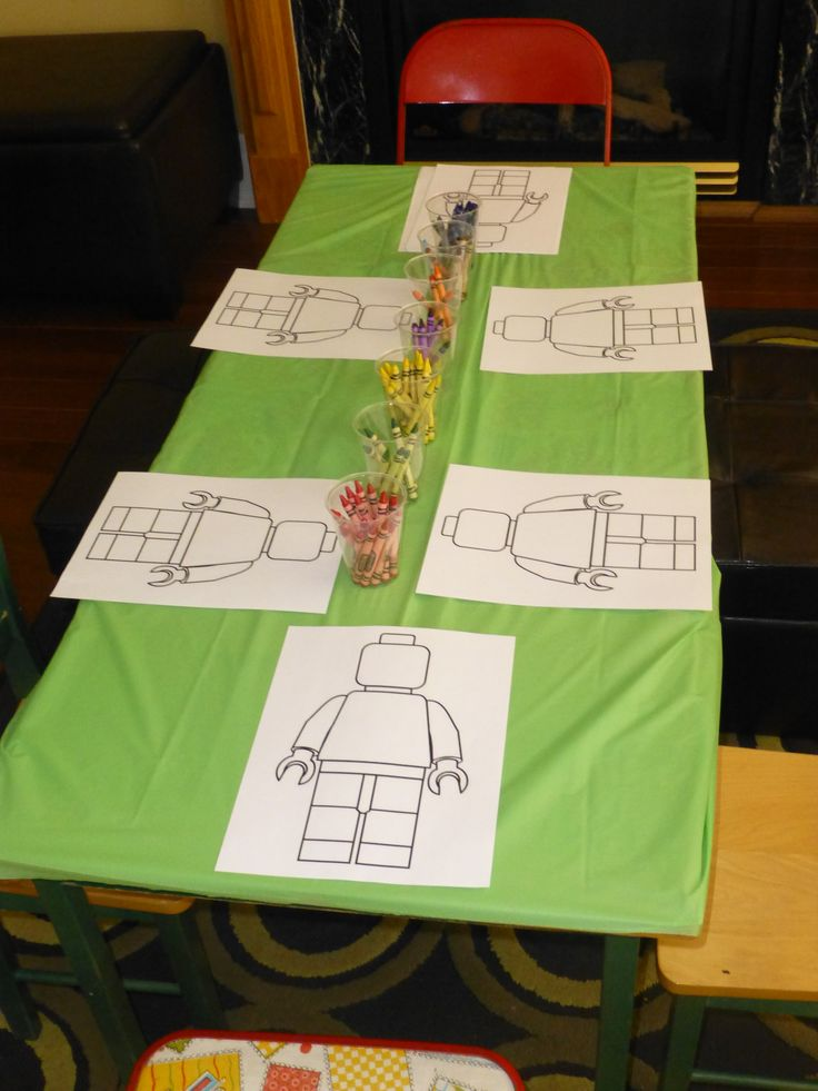 colouring station. As kids arrive they create their own. template found using google...