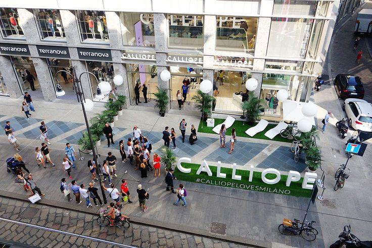 #Calliope ha presentato a Milano il suo primo #negozio. Un evento pensato per raccontare al pubblico milanese il mondo glamour Calliope e i suoi outfit dallo stile equilibrato e contemporaneo. Effebi ha realizzato su misura gli #arredi.