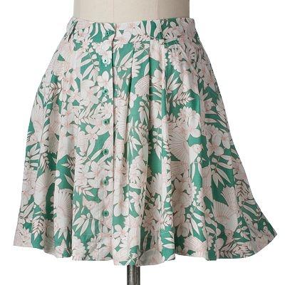 LC Lauren Conrad Floral Pleated Skirt, Kohl's