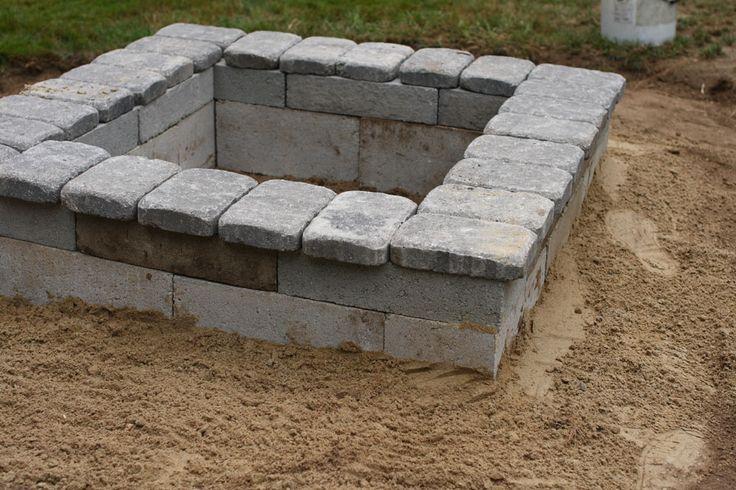DIY Square Fire Pit Wood   fire pit no stones blog size