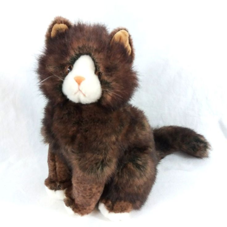 Ty Classic Prissy the Cat Plush Stuffed Animal 1999 Seated Fluffy Tail Realistic #Ty