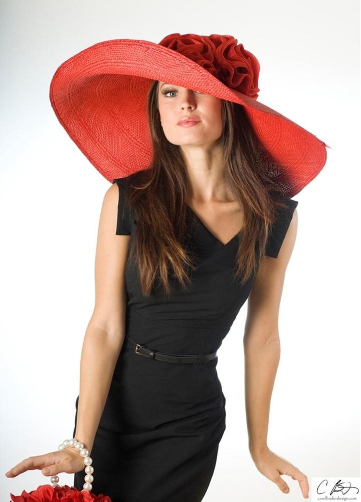 kentucky derby styleSummer Hats, Mela Rosa, Red Hatters, Derby Style, Red Hats, Kentucky Derby Hats, Carol Bader, Little Black Dresses, Derby Parties