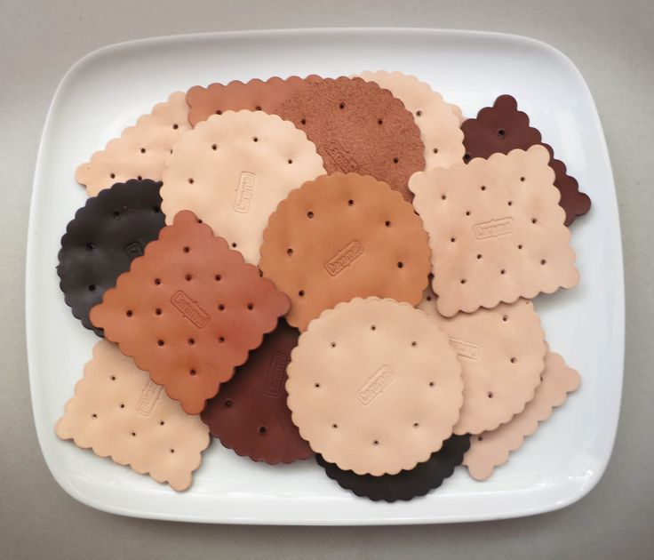 Biscuits Leather Coasters