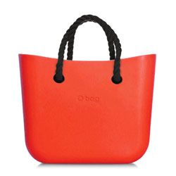 Mini O bag - Orange with Black Short Rope Handle