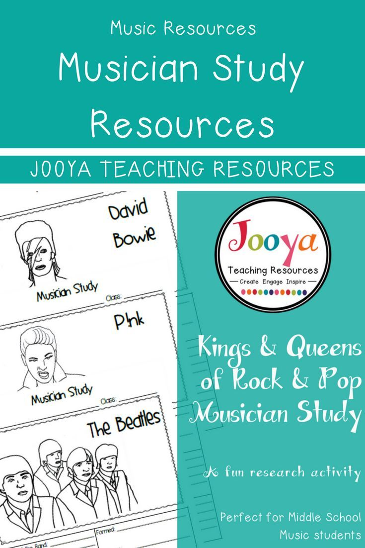 Kings and Queens of Rock and Pop Musician Study from Jooya Teaching Resources is the perfect addition to any music classroom. Use for early finishers, in the sub tub or as an assignment! Link here: https://www.teacherspayteachers.com/Product/MUSIC-Kings-and-Queens-of-Rock-Pop-Musician-Study-2497828