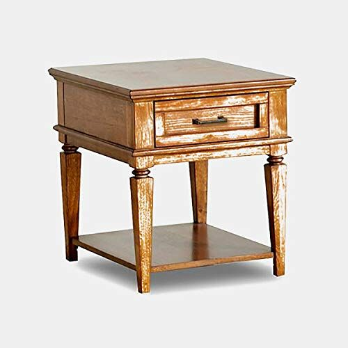 Wood End Table End Table With Shelf And Drawer Honey Oak