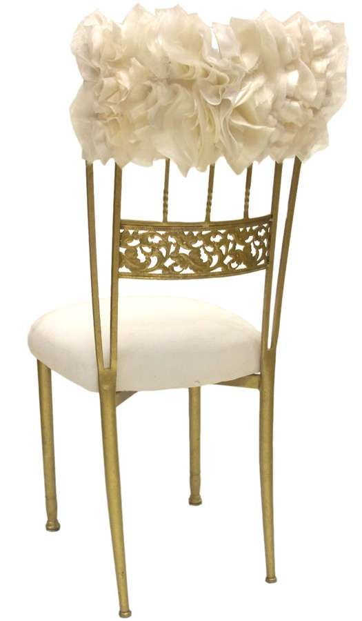 17 best images about wedding chair decor on pinterest for Decorating chairs for wedding reception