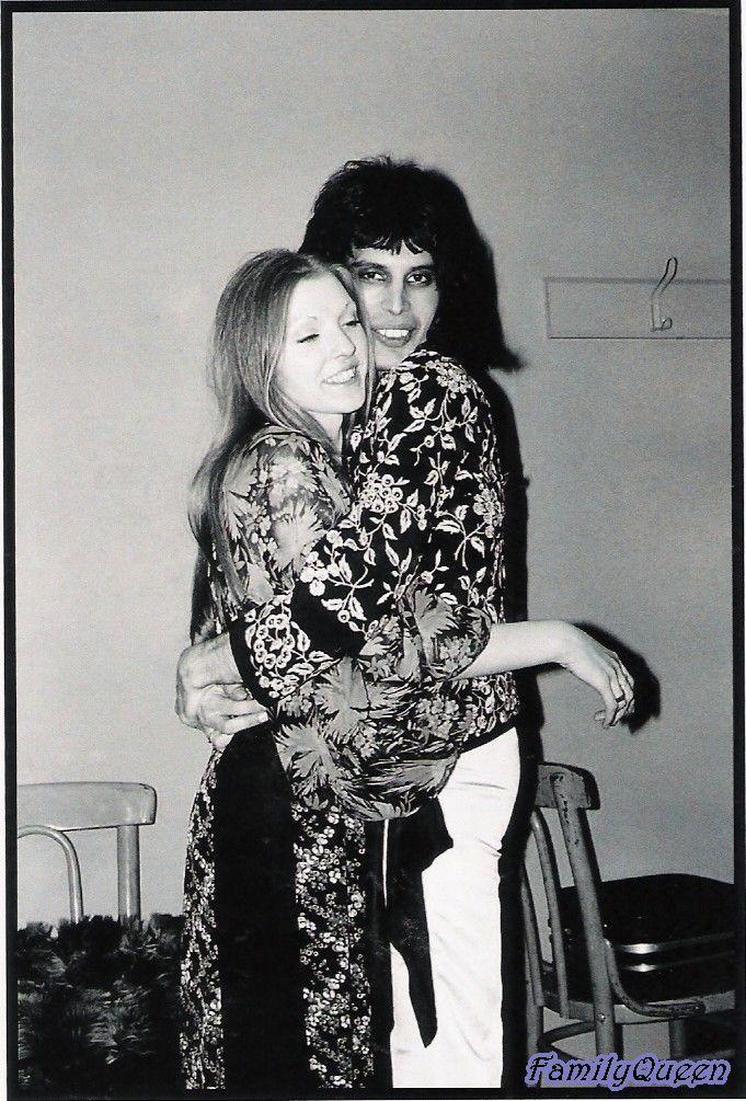 Freddy Mercury and girlfriend Mary Austin, 1974