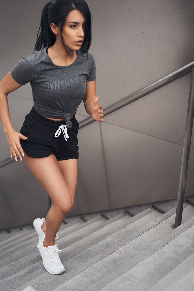 It all starts with a dream. Be a visionary. Jazmine Garcia works out in Rhythm Shorts and Apollo T-Shirt
