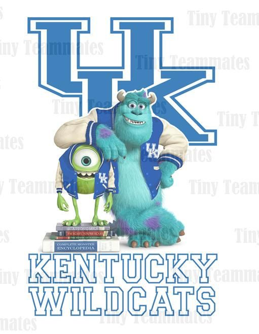 Monsters University Inspired University of Kentucky Wildcats - New Custom Design - Digital File - Any Team Available by special request