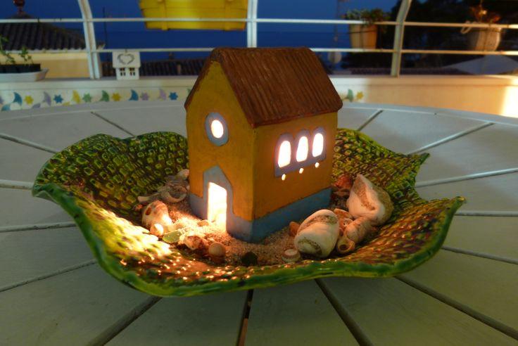 casa de arcilla endurecida sin horno