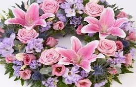 The Gift Box Beautiful Funeral Flowers - UK Mainland Only - Stunning Wreath 38cms Lilies and large-headed roses are nestled amongst freesias and lisianthus along with eryngium and foliage in this circular wreath. (Barcode EAN = 9770959891127). http://www.comparestoreprices.co.uk/december-2016-week-1-b/the-gift-box-beautiful-funeral-flowers--uk-mainland-only--stunning-wreath-38cms.asp