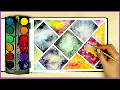 How to Paint a Galaxy using Cheap Watercolors! Art Journal Thursday Ep. 14 - YouTube
