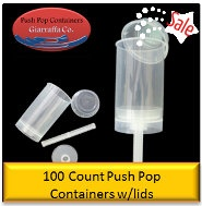 fun to make your own push pops for a party. :) (http://shop.pushpopcontainers.com/push-pop-containers-100-count/)  $45.00