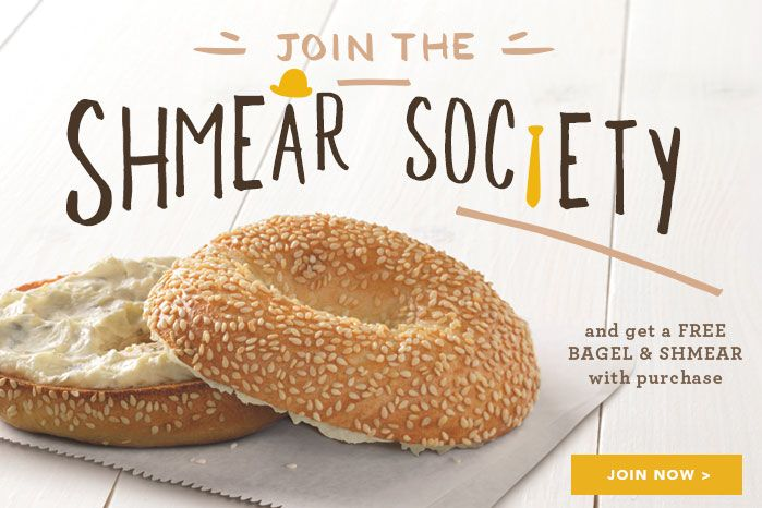 Join the Bagel Nation with Einstein's and get a free bagel & schmear for sign-up and a free egg sandwich w/purchase on your birthday