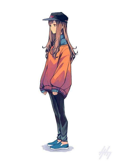 Cartoonsmart Character Design With Illustrator : The oversize jumper it s in fashion pinterest anime