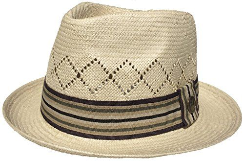 Vintage Goorin Bros Etienne Straw Fedora Hat(Small) >>> Check out the image by visiting the link.
