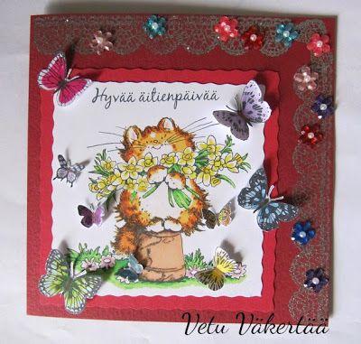 Äitienpäivä kortti - Mother's day card