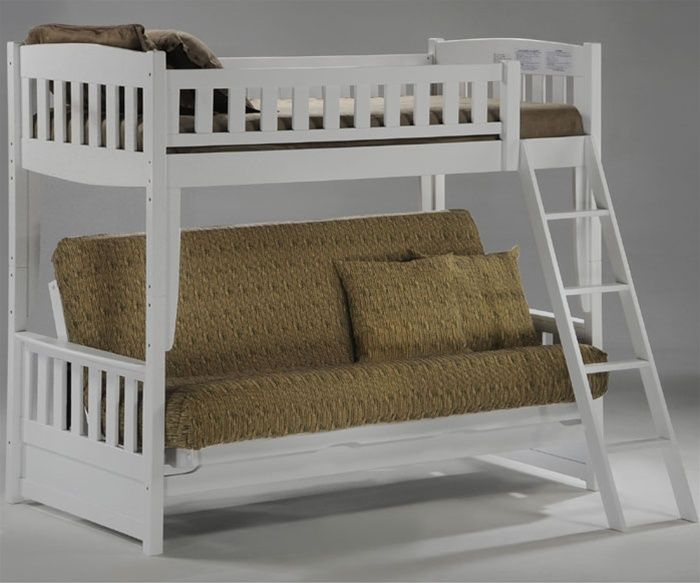Night And Day Furniture Spice Collection Spice White Cinnamon Futon Bunk  Bed Twin Over Futon Bunkbed Cinnamon Kids White Bedroom Furniture Bunk Beds  Sets ...