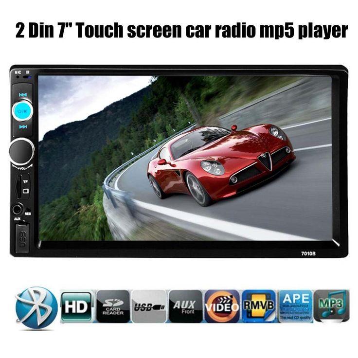 سيارة راديو ستيريو بلوتوث hd 7 بوصة 2 الدين اللمس الشاشة يدوي tf/usb/aux mp4/mp5 لاعب رئيس دعم كاميرا الرؤية الخلفية وحدة