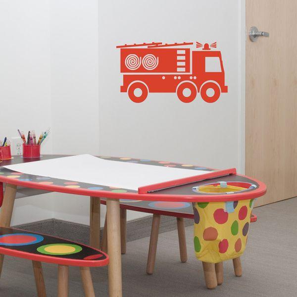 die besten 25 wandtattoo feuerwehr ideen auf pinterest feuerwache spieltisch kinderzimmer. Black Bedroom Furniture Sets. Home Design Ideas