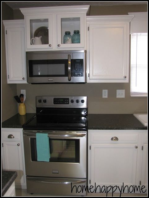 Budget kitchen remodel.  Especially the microwave cabinet.