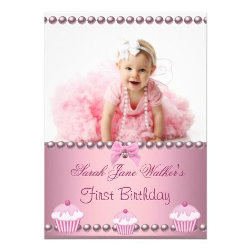 25 best Baby 1St Birthday Invitations images on Pinterest 1st